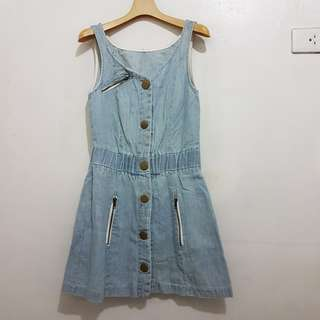 Button Down Denim Dress