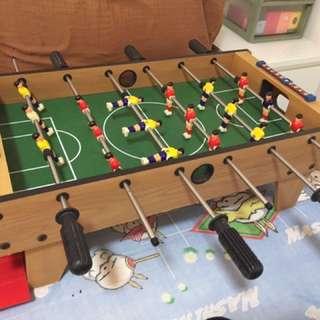 Toy mini foosball table