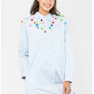 Schmiley Mo Pom Pom Long Dress