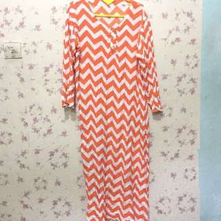 Long dress zigzag