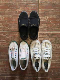 Authentic set of 3 pair of shoes