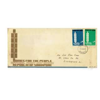 ***1969 FDC Homes For The People Singapore conditions of stamps and cover as in picture