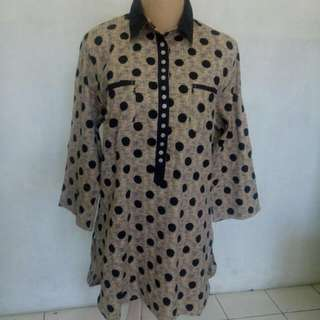 Brown Polkadot Tunik