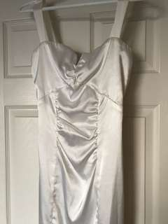 White Satin Le Chateau Dress