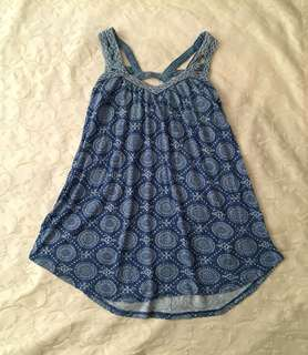 Charity Sale! Authentic Crossroads Flowy Sleeveless Women's Top Size 10