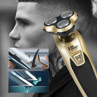 Men Electric Beard Trimmer Shaver 3 in 1 Rechargeable
