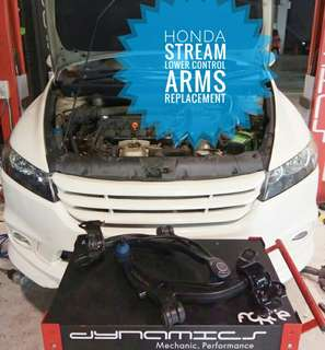 Honda Stream : Lower Control Arms Replacement