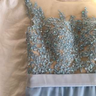 Baby Blue Chiffon Prom Dress