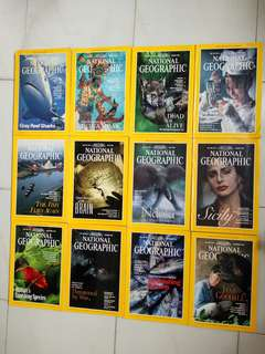 Vintage collection  National Geographic Magazines 1995