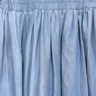 Beautiful Long Blue Skirt for weekend wear | 418-EB01