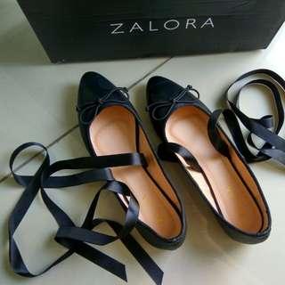 zalora lace up bow ballerinas size 36