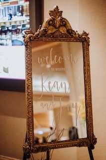 Vintage Mirror Wedding Signage