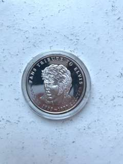 Elvis Silver Collectable Coin