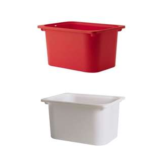 Two IKEA TROFAST Storage box - red & white