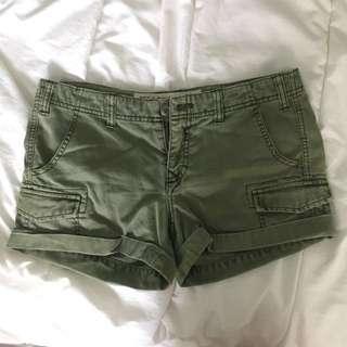 TNA Green Short Shorts