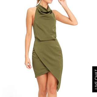 ELLIAT Camo Green Halter Dress