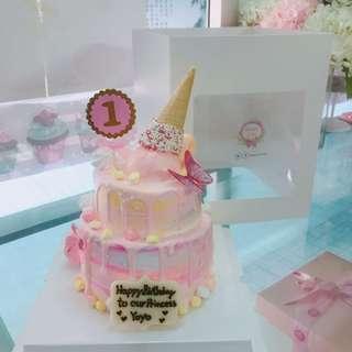 生日蛋糕百日宴BB派對生日婚宴結婚蛋糕