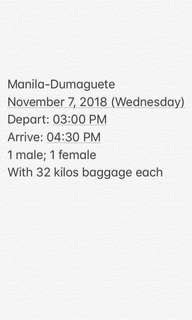 MNL-DGT plane tickets