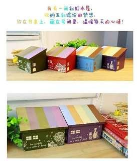 🚚 {天天隨時分享購}彩虹木屋收納盒
