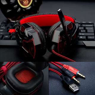Soyto 830 LED Lighting Game Gaming Headphone Headset Earphone With Mic For PC