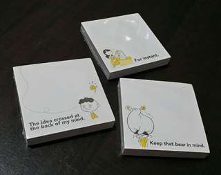 Set of 3 Funny Note Pads