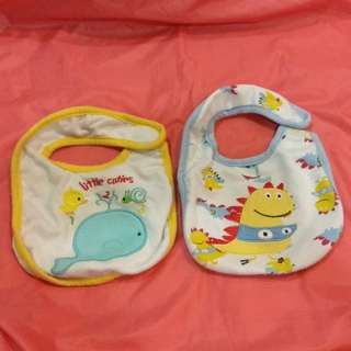 (2 Pcs) Cotton Baby Bibs