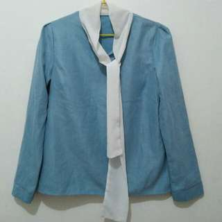 REPRICED! long sleeves top with collar