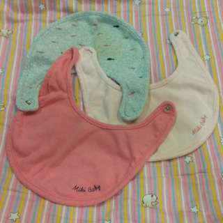 (3 Pcs) Cotton Baby Bibs