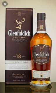 Glenfiddich 18 years Scotch Whisky 700ml