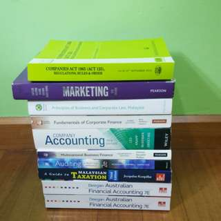 Below RM50 Textbooks for Accounting, Finance, Marketing & Law.