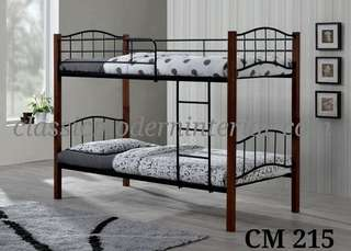 Wooden Post Double Deck Bed Frame Cm 215