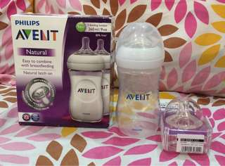 Philips AVENT feeding bottle (with extra 1 teats)