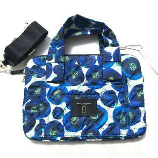 MARC JACOBS QUILTED LAPTOP BAG 35x25CM BLUE MULTI