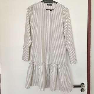 CALAQISYA Workwear Button Blouse