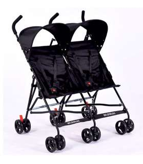 Baby Black Twin Stroller