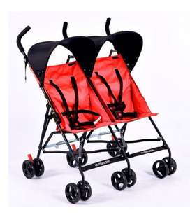 Red Twin Stroller Double Seat
