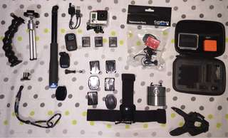 Title: GoPro Hero 3+ Black Edition w/ Original sandisk 32gb and accessories