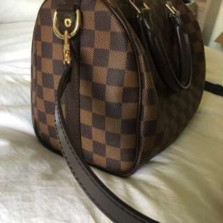 Louis Vuitton LV Damier ebene speedy Bandouliere 25cm New