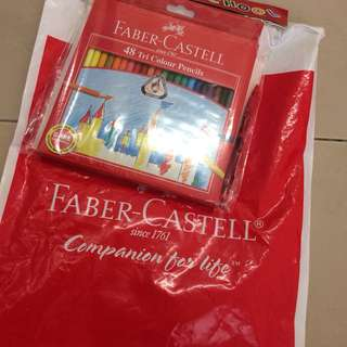 Faber Castell 48 Tri Colour Pencils