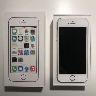 iPhone 5s w/box (white and gold)