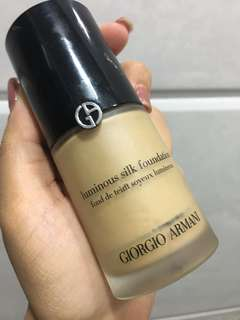 Giorgio Armani 粉底  Luminous Silk foundation Color 6