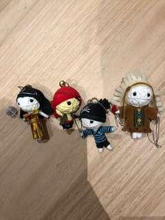 4 Handmade Keyrings