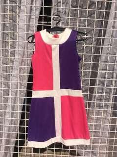Pink and Violet Dress for Kids