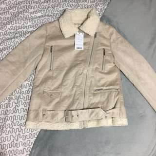 BNWT Mango Faux Shearling Aviator Jacket