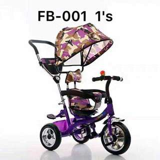 Camouflage 4 in 1 Stroller Bike