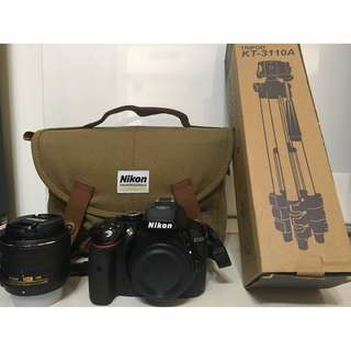 [Used Once] Nikon D5300-1855-BK SLR Camera (Almost Brand New)