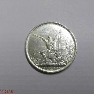 Swiss old silver coin (1874)