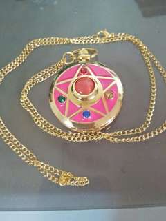 SailorMoon Pink locket watch necklace