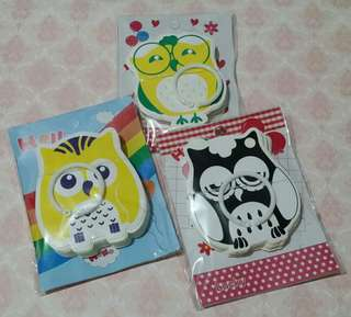 Owl Theme Stationery Set of 3