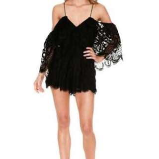 Alice McCall- Lucy in the Sky black play suit size 8